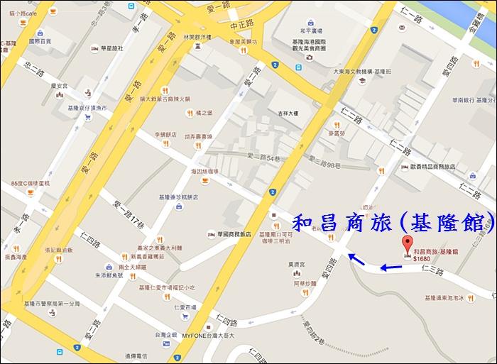 和昌商旅基隆館地圖