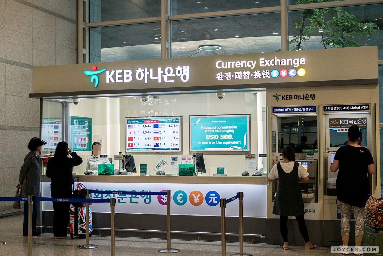 仁川機場銀行匯率,仁川機場KEB銀行匯率