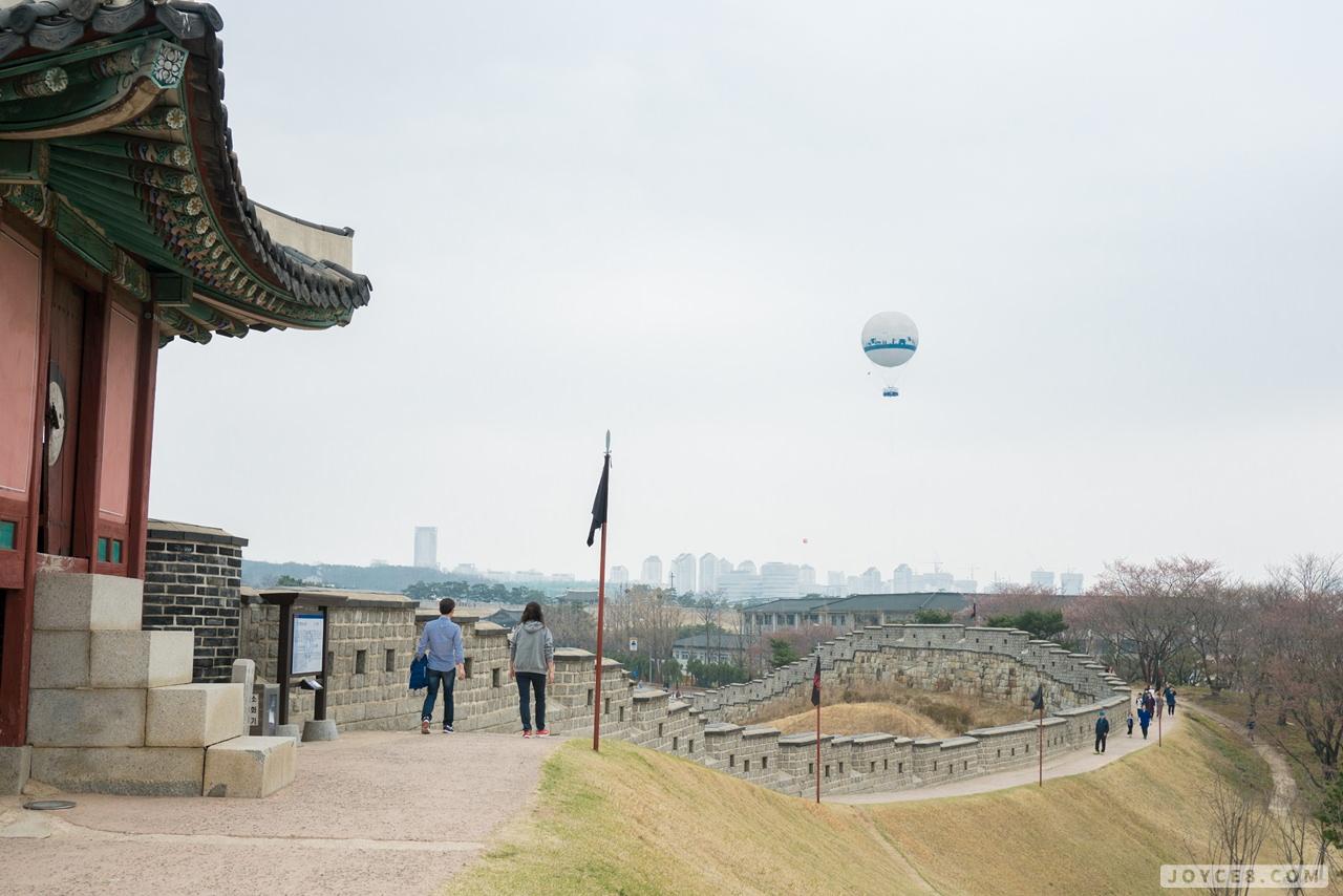 水原華城熱氣球,京畿道水原華城,世界遺產水原華城