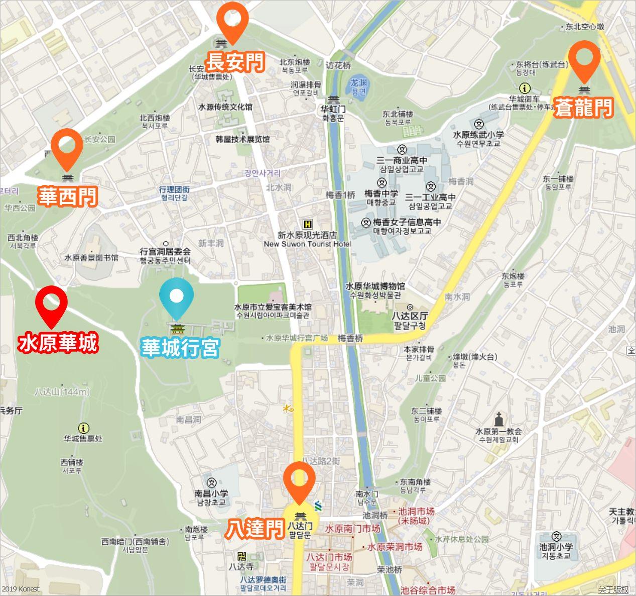 水原華城交通,水原華城地圖,水原華城交通方式